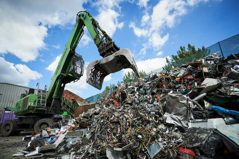 e-waste at recycling centre