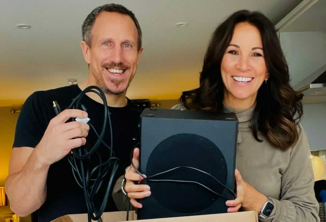 Nick Freeney and Andrea McLean introduce Give-Back January campaign to donate old electricals