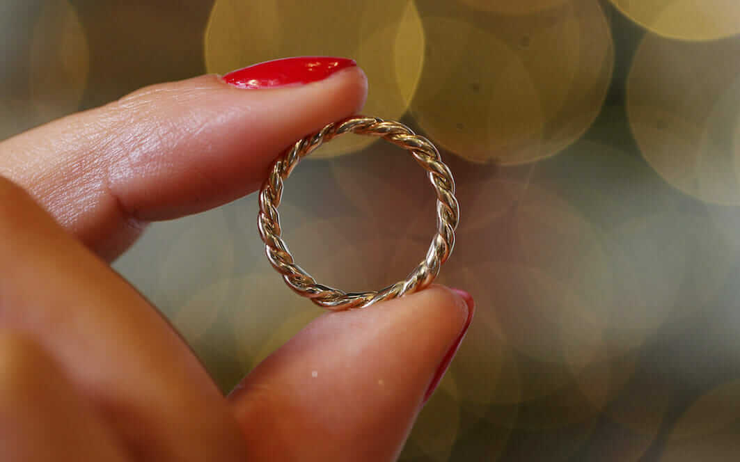 jewellery made from recycled metals