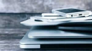 laptops and mobile devices to be recycled