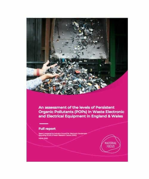 Cover for persistent organic pollutantsin WEEE report
