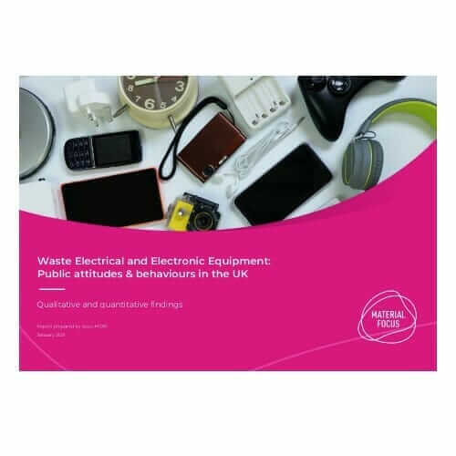 Cover for public attitudes to electrical recycling
