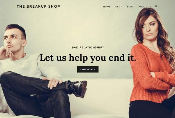 Breakup Shop est un service qui rompt avec votre copine ou copain à votre place