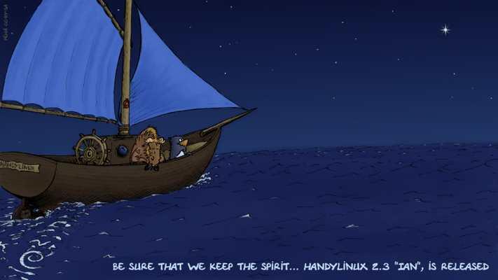 HandyLinux 2.3-Ian pour rendre hommage à Ian Murdock, le créateur de Debian