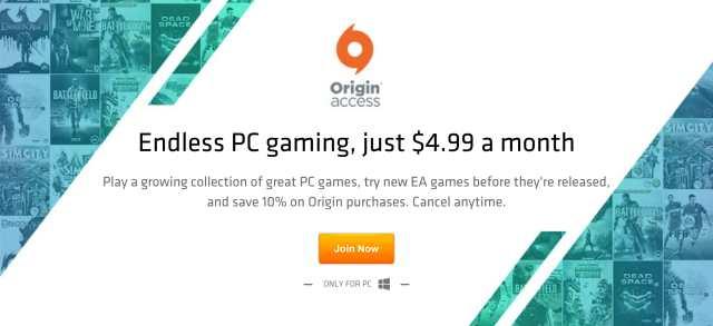 Origin Access pour PC est un service d'abonnement mensuel de 5 dollars d'Electronic Arts pour accéder à des jeux PC en mode illimité