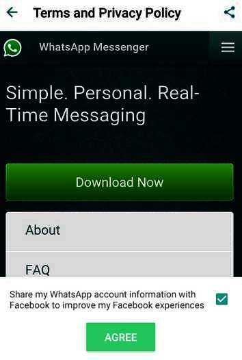 WhatsApp possède un réglage caché pour partager ses informations avec Facebook