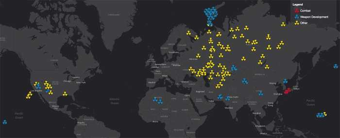 Une carte interactive qui montre chaque détonation nucléaire depuis 1945