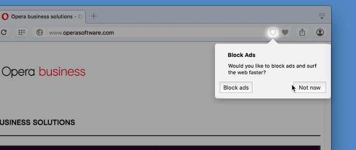 Le navigateur Opera intègre désormais un bloqueur de publicité en natif