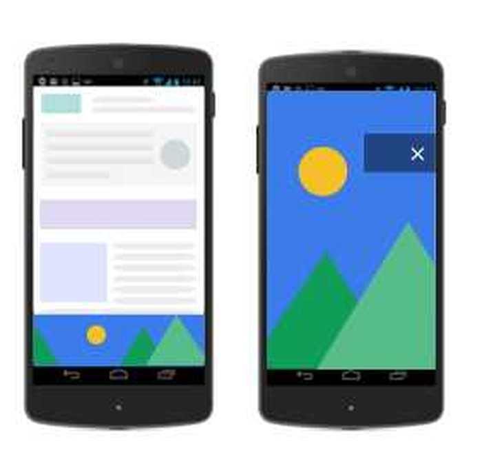 Adsense propose des annonces au niveau de la page pour les appareils mobile