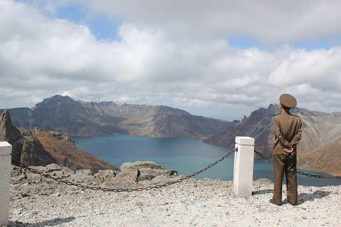 Le cratère du mont Paektu en Corée du Nord.