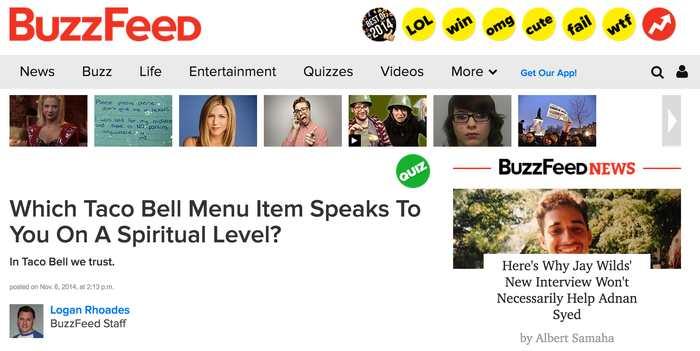 Les sites de Clickbait comme Buzzfeed et Gawker enregistrent une baisse considérable de leurs visites