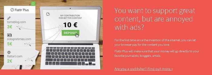 Peter Sunde, le fondateur de Pirate Bay et l'entreprise Adblock Plus proposent Flattr Plus, une solution de rémunération pour les éditeurs.