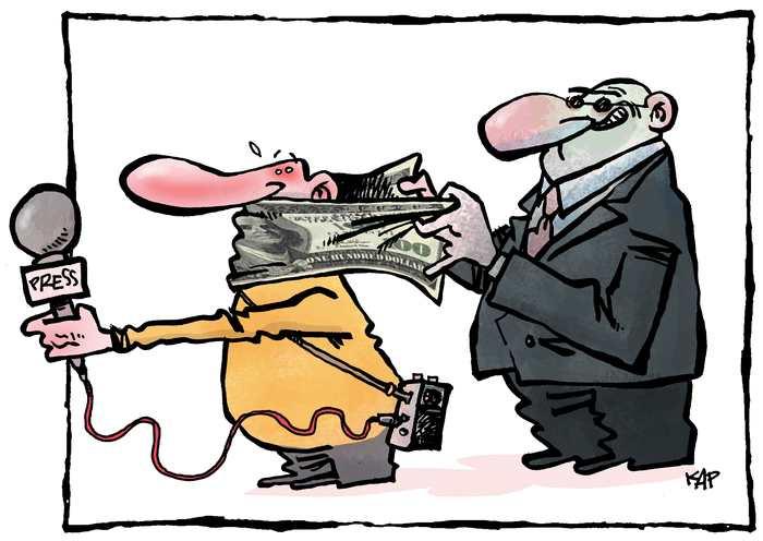 A Madagascar, les journalistes manifestent contre les délits de presse qui sont maintenus dans le code de la communication.