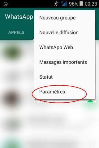 Quelques étapes pour désactiver le partage de vos informations de Whatsapp avec Facebook.