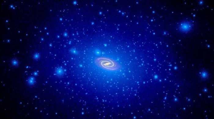 L'observation de la vélocité radiale des étoiles dans une galaxie en considérant l'absence de la matière noire. Les résultats suggèrent une correspondance sous-entendant que la matière noire est très loin de ce qu'on pense.