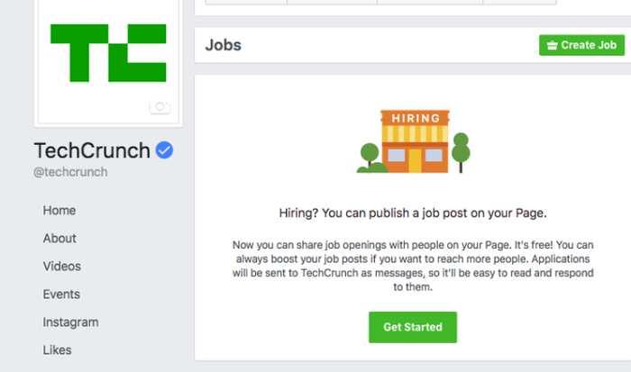 Après le commerce électronique, les paiements en ligne, Facebook part à l'assaut de Linkedin. Un test montre qu'on pourra avoir un onglet intitulé Emplois sur une page Facebook.