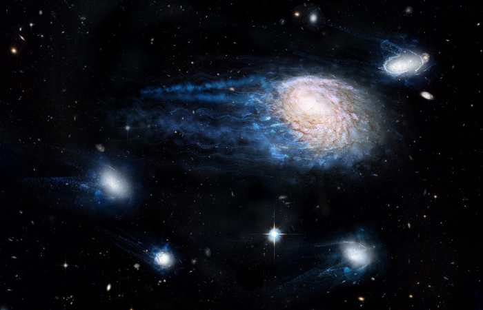 Il y a des galaxies qui disparaissent et les chercheurs étaient intrigués par ces disparitions rapides. Désormais, ils proposent une explication basée sur un phénomène connu comme le balayage par pression dynamique.