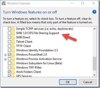 Désactiver la norme SMB1 pour se protéger du Ransomware Wannacry