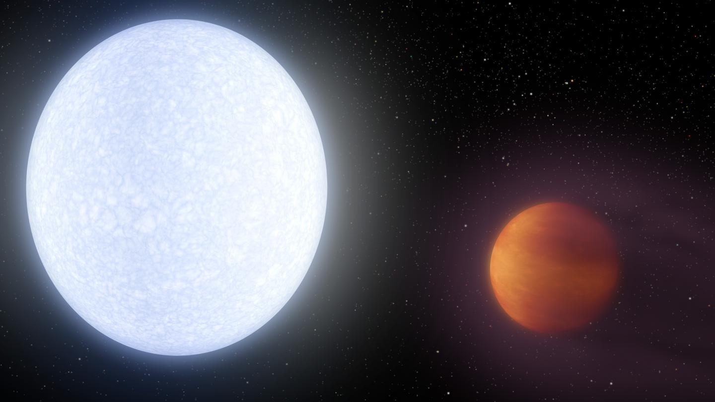 L'exoplanète KELT-9b est plus chaude que la plupart des étoiles. Elle pourrait posséder une queue comme celle des comètes.