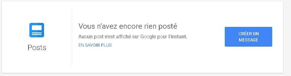 Google Posts est disponible dans Google My Business