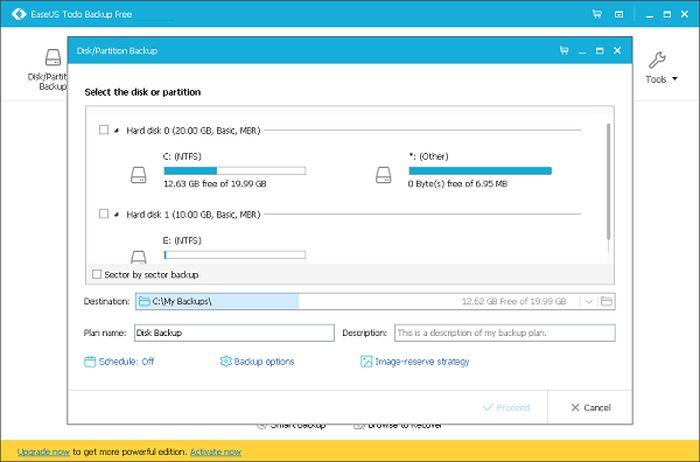 Easeus Todo Backup Free est un des meilleurs logiciels de sauvegarde gratuit sur le marché.