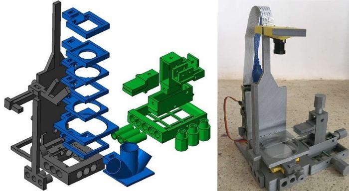 Des chercheurs proposent le concept de Flypi, un système de microscope et d'imagerie qui coute moins de 100 euros et qui utilise l'impression 3D et des solutions Open Source.