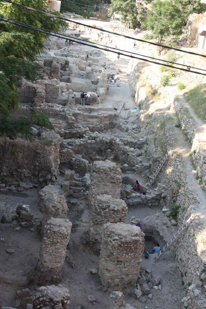 Le site de Sidon où on a trouvé le restes des Cananéens analysés dans l'étude - Crédit : Dr. Claude Doumet-Serhal - The Sidon excavation