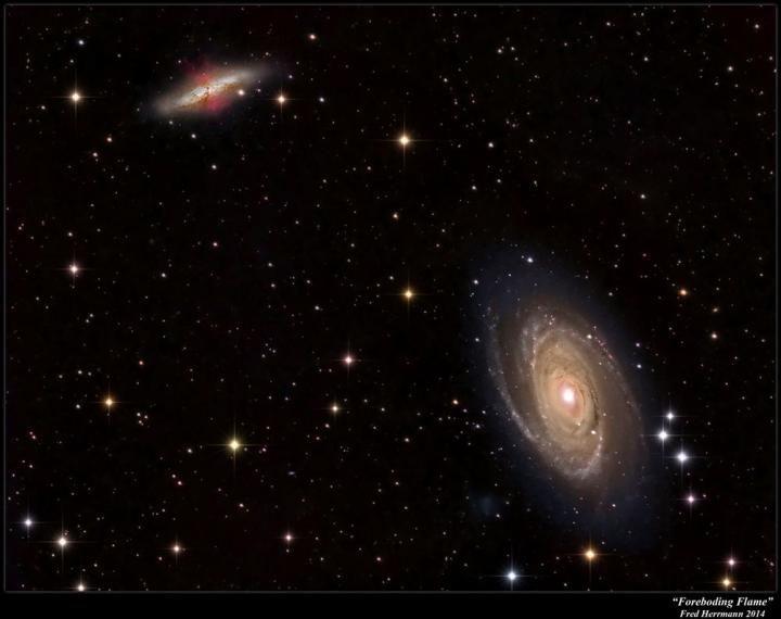 Les vents galactiques pourraient transporter de la matière d'une galaxie à l'autre - Crédit : Fred Herrmann, 2014,