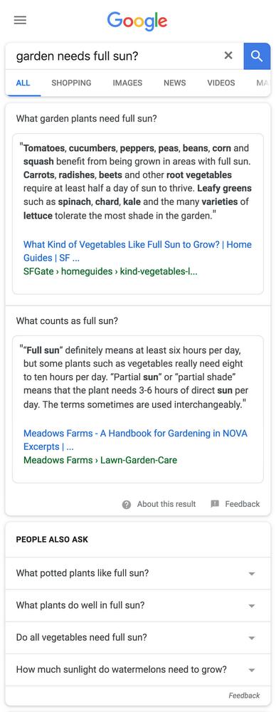 Google propose désormais des Featured Snippets à multi-facettes
