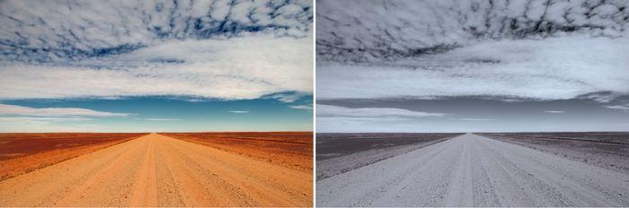Un algorithme pour détecter des signes de dépression dans les photos Instagram. La photo de droite prédomine vers le bleu, une faible saturation et luminosité comparé à la photo de gauche - Crédit : Chris Danforth
