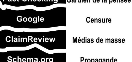 Google ne supporte pas qu'on critique les médias de masse avec le Fact Checking qu'il a implanté via la balise ClaimReview de la norme Schema.org.