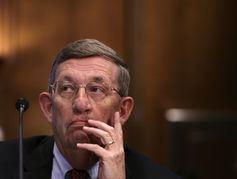 Lee Raymond, ancien CEO d'Exxon qui a dirigé l'entreprise de 1993 à 2005, une période où l'entreprise est connu pour avoir jeté des doutes sur le changement climatique - Crédit : Yuri Gripas/Reuters