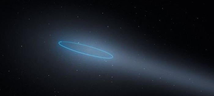 Une illustration d'artiste du système 288 qui est un astéroïde binaire qui se comporte comme une comète - Crédit : ESA/Hubble, L. Calçada.