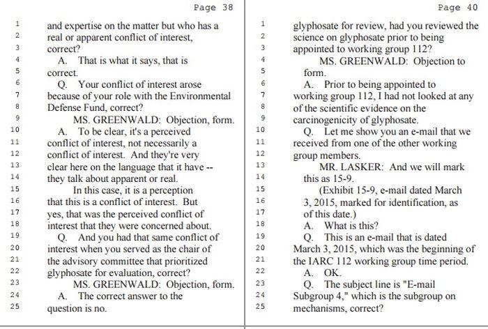 Avant de travailler sur le rapport du CIRC, Christopher Portier avoue qu'il n'avait jamais consulté la littérature scientifique du glyphosate. Comment nomme-t-on un expert sans aucune expertise ?