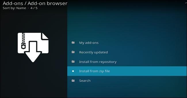 Comment installer un add-on Kodi provenant d'une source inconnue via un fichier ZIP