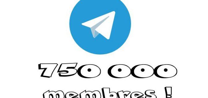 Les groupes Telegram supportent désormais jusqu'à 75 000 membres, c'est simplement 74 744 membres de plus que les groupes WhatsApp :D.