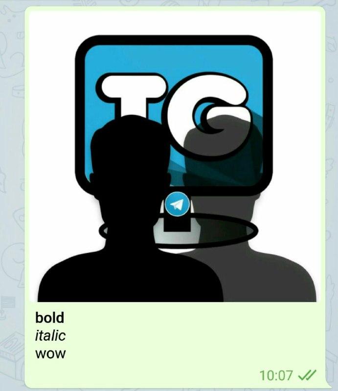 Telegram ajoute le support de Markdown pour les légendes des images de Telegram