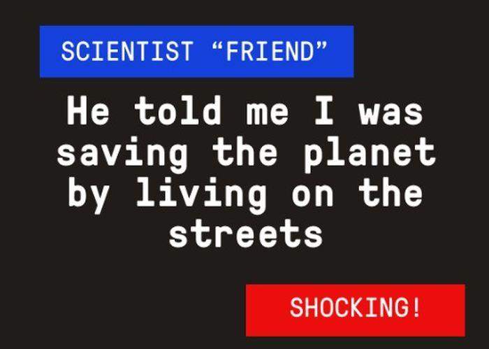 Dans cette Fake News, vous attaquez le réchauffement climatique anthropique en dépeignant les scientifiques comme des gens cruels et sans états d'âmes.