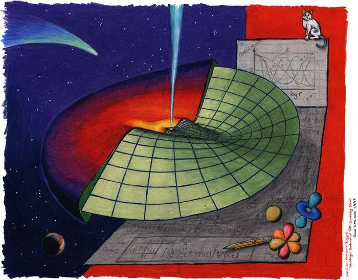 Un impression d'artiste de cette étude qui suggère que la propagation des ondes dans un disque astrophysique peut être comprise avec l'équation de Schrödinger - Crédit : James Tuttle Keane, California Institute of Technology