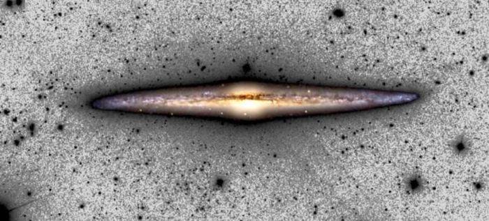 Une image composite de NGC 4565 - Crédit : C. M. Lombilla / IAC