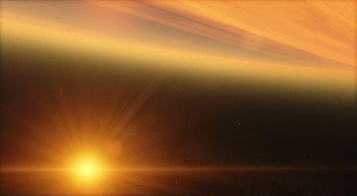 Pour la première fois, les astronomes ont détecté de l'hélium dans l'atmosphère d'une exoplanète appelé WASP-107b.