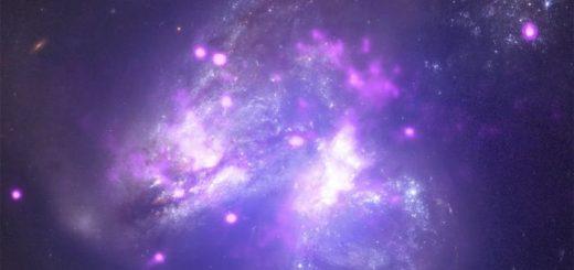 Arp 299, une paire de galaxies en collision
