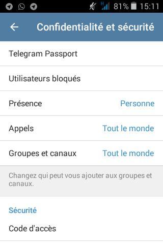 Une nouvelle option dans Telegram pour fournir des pièces d'identité