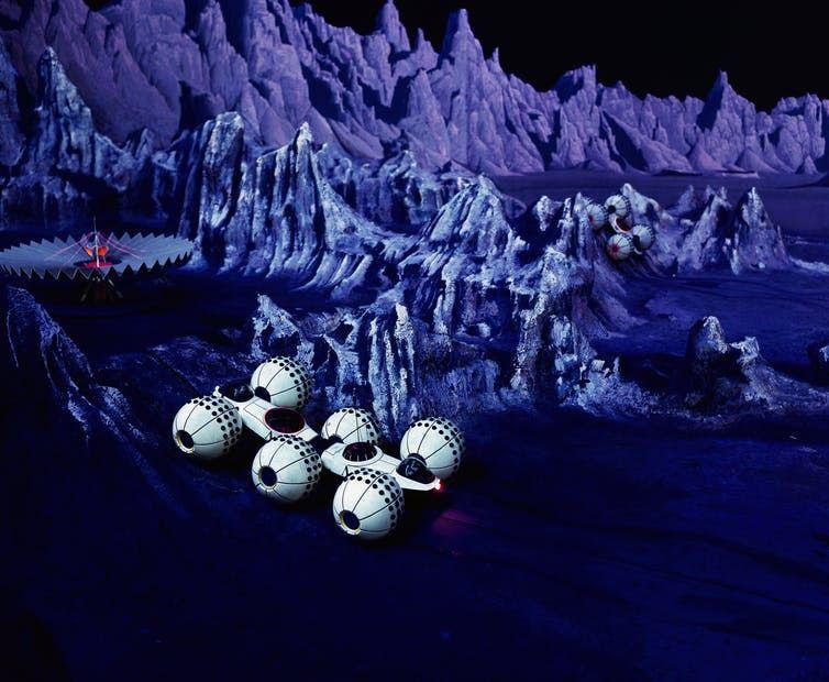 Une exposition internationale de 1965 montrait une colonie sur la Lune - Crédit : AP Photo
