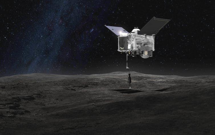 OSIRIS-REx se rendra sur un astéroïde proche de la Terre appelé Bennu et ramènera un petit échantillon sur Terre pour une analyse. La mission a été lancée le 8 septembre 2016 à partir de la station aérienne de Cap Canaveral. Comme prévu, le vaisseau spatial atteindra Bennu en 2018 et ramènera un échantillon à la Terre en 2023 - Crédit : NASA/Goddard Space Flight Centre