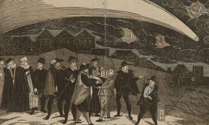 Critique de la comète; le cas des athées moraux. La Grande Comète de 1577 par Jiri Daschitzsky - Wikimédia Commons