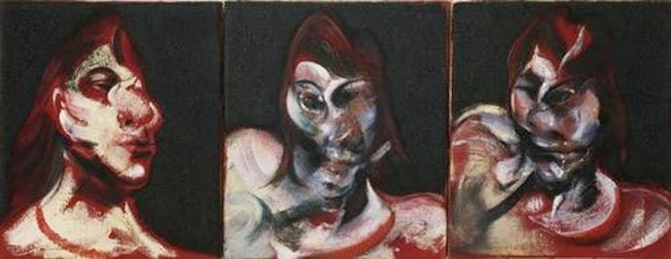 """Three Studies for the Portrait of Henrietta Moraes"" - Francis Bacon, 1963 - Crédit : MoMA"