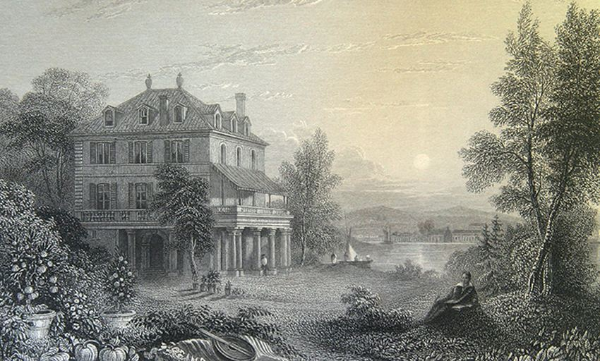La Villa Diodati d'après une gravure de E. Finden - Crédit : Bibliothèque Bodleian, Oxford