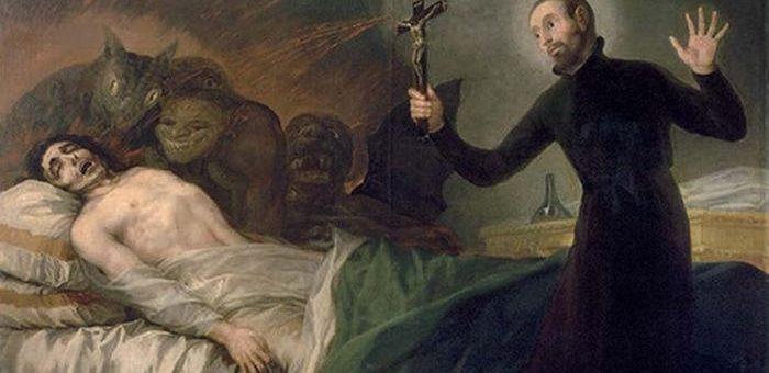 Un tableau représentant saint Francis Borgia, un saint du XVIe siècle, exerçant un exorcisme - Crédit : Francisco Goya