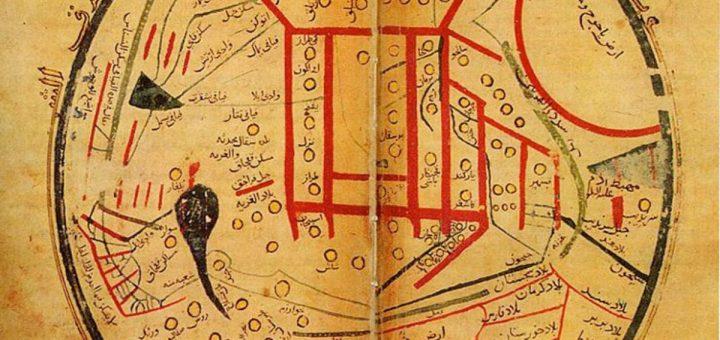 Une carte turque du monde d'al-Kashgari (c664/1266 après JC), dont le centre du monde est à Balasaghun - Crédit : Wikipédia